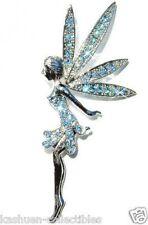 w Swarovski Crystal ~Blue Tinker Bell Fairy Tinkerbell ANGEL Princess Pin Brooch