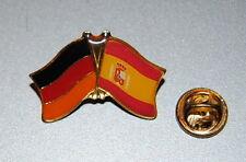 Amistad spin 0128 pin ele Alemania/España Bandera button metal pins