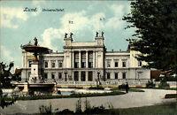 Lund Schonen Schweden Sverige ca. 1910 Universitetet Universität Brunnen Schule