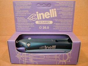 NOS Cinelli Sesamo Stem...Black/Silver Finish w/Silver Decals (140mm)...Last One