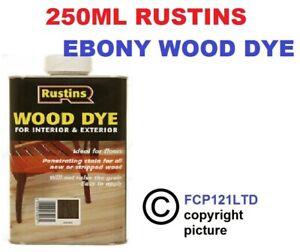 RUSTINS WOOD DYE EBONY 250ML NEW
