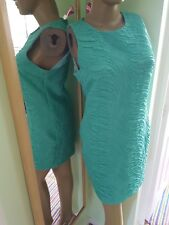 BRAND NEW ASOS CRINKLE GREEN 60S STYLE MINI DRESS SIZE 14 BNWT NEXt**LOOK