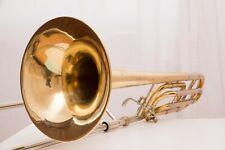 Bach Stradivarius 42b BB/F Quart VALVOLA tenore trombone Trombone trigger 1980