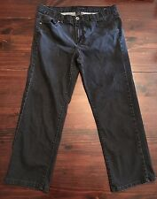 Calvin Klein Womens Jeans Black Stretch Slim Skinny Fit Size 32/14 blingy pocket