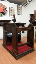 Victorian Bishop's Oak Combined Chair Pew Book Stand Solid Wooden Antique Church
