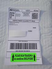 250 PLEASE SCAN TRACKING # to confirm DELIVERY 1x3 label sticker Green Fluor