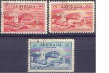 Australia 1932 SYDNEY HARBOUR BRIDGE 2d,2d,3d Superb FU (CTO,full gum) SG141-2,4