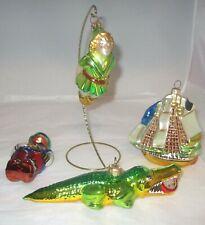 Polonaise Kurt Adler PETER PAN Set 4 Glass Christmas Ornament Set