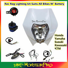 REC REG Motorbike Light Kit Suzuki DR650SE DRZ400SE 250 Dirt Pit Trail Bike