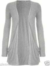 WOMENS LADIES LONG SLEEVE BOYFRIEND CARDIGAN WITH POCKETS PLUS SIZES 8--26
