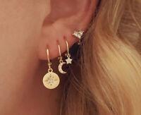 Ohrringe Small Hoop 'Twinkle' 925 Sterling Silber Gold