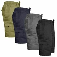 Mens Elasticated Casual Cargo Shorts Summer Half Pants KING BIG Size 4XL 5XL 6XL