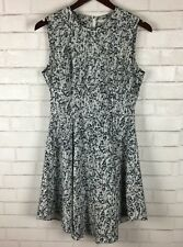 H&M Dress Pleated Sleeveles Skater Fit N Flare Granite Print Size US 10 Womens