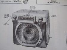 1949,1950 BUICK 980868 RADIO PHOTOFACT