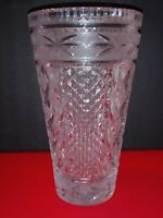 Beautifully Designed Vintage American Brilliant Cut Glass Antique Vase 3 1/2 lbs