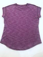 Lululemon Lost in Pace SS Tee Sz 4 Top Magenta Pink Rouge Short Sleeve Shirt run