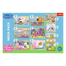 Trefl Piece 10 in 1 Kids Jigsaw Puzzle Peppa Pig With Friends 20 / 35 / 48