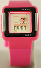 Casio LCF-20-4DR Ladies Analog Digital Pink POP TONE Watch Resin Sports LED New