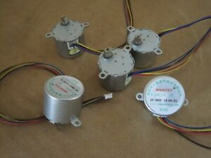LOT of 5,  W-24BYJ 5v High Speed Camera Motor with Gear Reduction Drive Gearbox