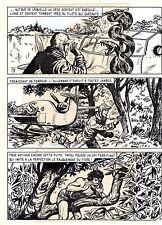 TAROU CONTRE LES SOLDATS JAPONAIS (BOB DAN) PLANCHE ORIGINALE AREDIT  PAGE 16