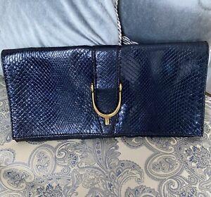 Gucci python bag clutch