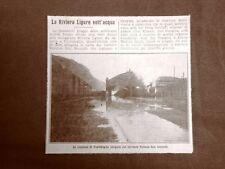 Inondazione in Liguria nel 1912 Stazione Ventimiglia allagata Vallone S.Secondo