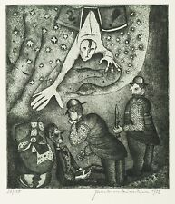 HERMANN NAUMANN - Zu Kafka - Der Prozess: Hinrichtung - Punzenstich 1952
