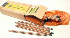 """CARBON ARC RODS for 35mm FILM PROJECTION - 1 BOX of  10mm x 9"""" DIAMOND NEGATIVE"""