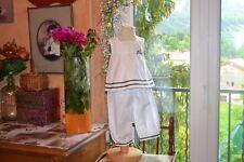 ensemble tartine et chocolat 18 mois blanc  liseret cafe noeud brelogue impeccab