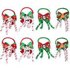 Hot Christmas Dog Puppy Bow Tie with Curves Adjustable Dog Bowtie Nektie Bowties