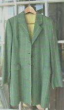 MAGEE Ladies Irish Tweed Wool Coat 12 Portnoo Coat. Green, heather, windowpane
