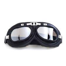 Motorcycle Aviator Black Lens Eyewear Scooter ATV Goggles Glasses Helmet Pilot