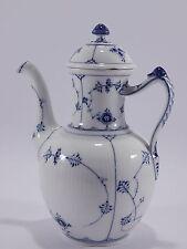 ANTICA CAFFETTIERA PORCELLANA ROYAL COPENHAGEN BLUE FLUTED DEL 1930
