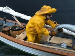 Rare original handcrafted diorama by Rex Stuart 'Gloucester Fishermen 1880'