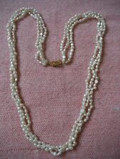 "VINTAGE FRESHWATER PEARL NECKLACE 22 "" INCHES LONG FINE QUALITY & CONDITION"