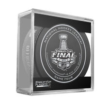 2016 NHL Penguins v Sharks Stanley Cup Final Game Four On-Ice Hockey Puck W/Cube