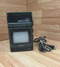 Sony Mega Watchman FD-500 BW TV, Collectable Vintage Technology 1988 Old School