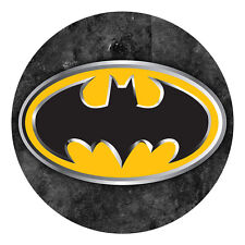BATMAN LOGO EDIBLE ICING IMAGE PARTY CAKE TOPPER ROUND FROSTING SHEET