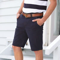 Front Row FR605 Mens Stretch Flat Front Chino Short Stretch Chino Tagless Shorts