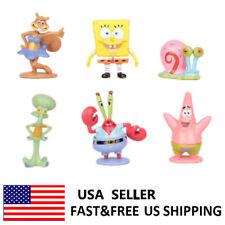 SpongeBob SquarePants Patrick Squidward Gary Sandy Action Figure Kids Toys 6 PCS