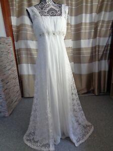 (93)Edles Damen Braut Standesamt Abend Kleid GR: 38