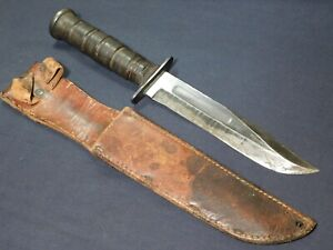 WWII USMC Fighting Knife Camillus Guard Mark US Marine Corps -Kabar- Bowie