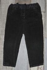 ~ Pantalon en velours côtelé noir MES PETITS CAILLOUX fille 18 mois ~