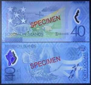 Solomon 2018 Commemorative Polymer Specimen Banknote 40 Dollars UNC