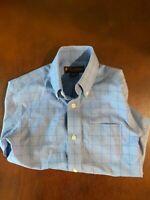 Boys Brooks Brothers Long Sleeve Dress Shirt Blue Check size 6 6T