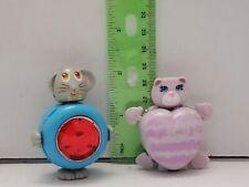 Vintage 1984- 1986 Sweet Secrets Galoob Charm Jewel Locket Lot of 2 Cat & Mouse