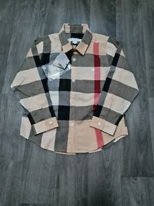BURBERRY BOYS LONG SLEEVE SHIRT AGE 4 Years (3-4) NEW,CHECKED,DESIGNER,AUTHENTIC