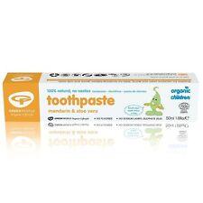 Green People 100% Natural Organic Children Mandarin & Aloe Vera Toothpaste- 50ml