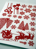 Self-cling Christmas stickers for glass and smooth glossy surfaces FREEPOST