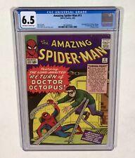 Amazing Spider-Man #11 CGC 6.5 KEY! (2nd Doctor Octopus!) 1964 Marvel Comics